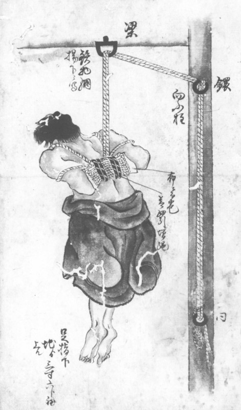 """Suspension Torment"" in Big Secret Book of Punishments (1836)"